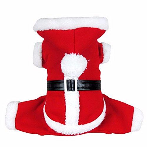 LKN Haustier Kleidung Weihnachtsmann Kostüm Halloween Karneval Weihnachten Anzug XL