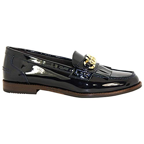 Luis Gonzalo Fringed Loafer 4634M 35 NVY Patent