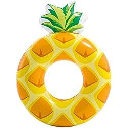 Dabuty Online, S.L. Flotador Piña Hinchable Diseño Amarillo Adulto Medidas 117x86 cm. Flotador Fruta para Playa o Piscina.