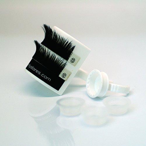 EMILYSTORES TM Eyelash Extensions 1 PC Lash Tray 2PCS Glue Adhesive Ring 4PCS Glue Cup Kits For False Eyelash Extension Holder Or Tattoo by EMILYSTORES