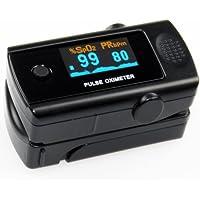 Preisvergleich für Fingerpulsoximeter MD300C3 mit 6fach-OLED-Anzeige und Pulston, inklusive Aufbewahrungstasche, Silikonschutzhülle...