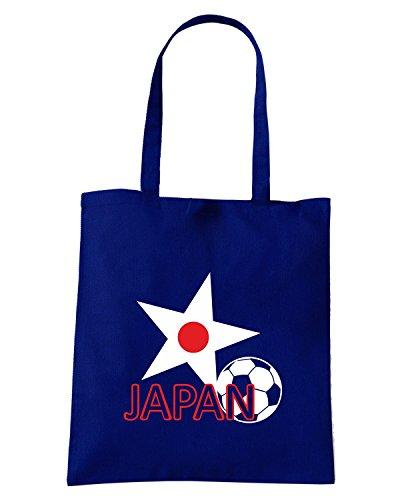 T-Shirtshock - Borsa Shopping T0716 JAPAN calcio ultras Blu Navy