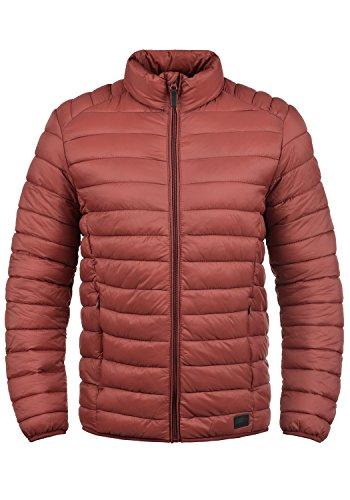 Blend Nils Herren Steppjacke Übergangsjacke Jacke mit Stehkragen, Größe:M, Farbe:Rust Red (73830) (Strickjacke Gesteppte)