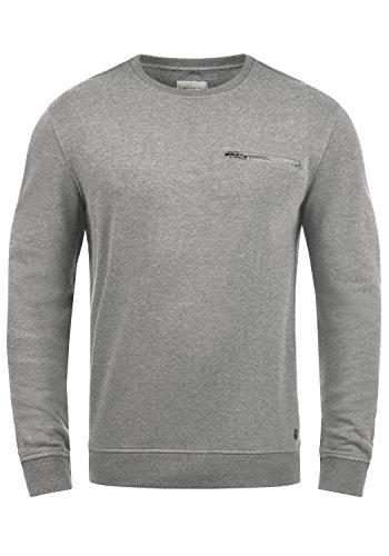 Blend Jesper Herren Sweatshirt Pullover Pulli Mit Rundhalsausschnitt Und Brusttasche, Größe:XXL, Farbe:Stone Mix (70813)