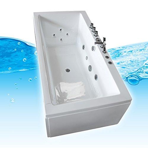 AcquaVapore Whirlpool Pool Badewanne Wanne A1813NA mit Reinigungsfunktion 90x185, Selfclean:aktive Schlauch-Reinigung +70.-EUR - 3
