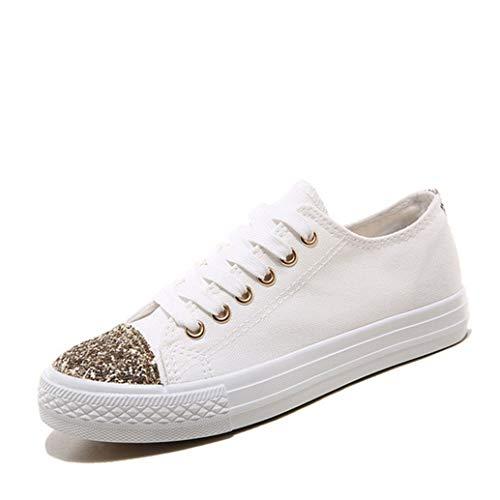 K-swiss-low-cut (Frauen Vulkanisieren Schuhe Frühling Sommer Mode Pailletten Toe Lace Up Low Cut Weichen Boden Flache Freizeitschuhe Weibliche Segeltuchschuhe)