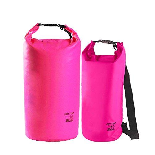 FakeFace Neu Wassderdicht Packsack Taschen Stausack Trockener Beutel 10 liter Rose 10L