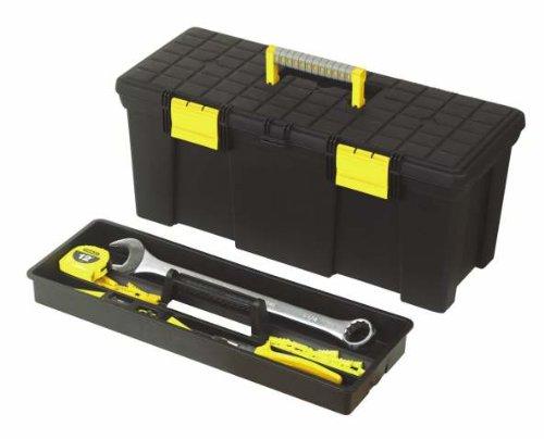 Stanley Werkzeugbox Classic,  Komfort-Handgriff, Vorhängeschloss-Öse, herausnehmbare Ablage, 50.5x24.8x23.5cm, 1-92-767