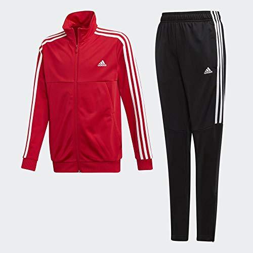adidas Jungen YB TS TIRO Tracksuit, rot (scarlet/White Bottom:BLACK/WHITE), Gr. 152
