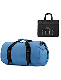 Twopages Foldable Waterproof Travel Luggage Gym Sports Shoulder Bag/Duffel Bag, Blue