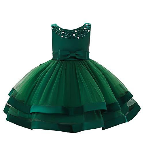 YFCH Abito Bambina Principessa Vestito da Cerimonia per Damigella con  Bowknot Floreale Abiti per Matrimonio Carnevale c1333064e9f