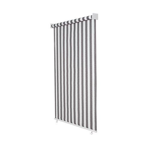 Jarolift Außenrollo/Senkrechtmarkise 200 x 240 cm (BxH) grau - Weiss