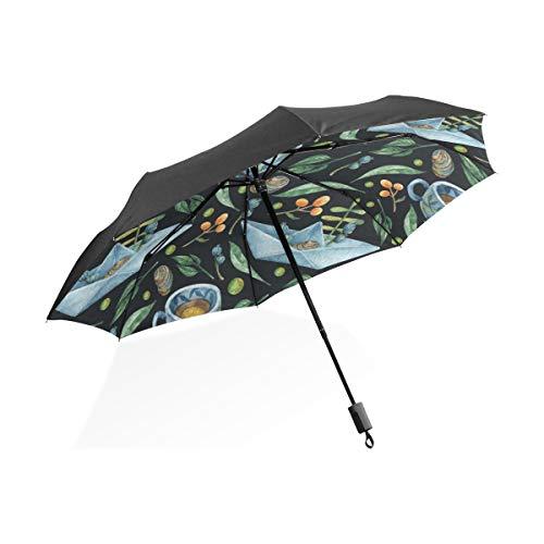 Mens Totes Regenschirm Grüner Tee Blatt Gesunde Tragbare Kompakte Taschenschirm Anti Uv Schutz Winddicht Outdoor Reise Frauen Regenschirm Für Kinder Jungen -