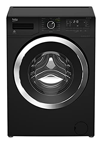Beko WMY 71433 PTEB Waschmaschine FL / A+++ / 171 kWh / 1400 UpM / 7 kg/L / schwarz / Watersafe / Mengenautomatik / Aquastop / Pet Hair Removal / Aquafusion / Super Express Programm / XL-Chromtür mit 34 cm Einfüllöffnung / Multifunktionsdisplay / BabyProtect / Automatische