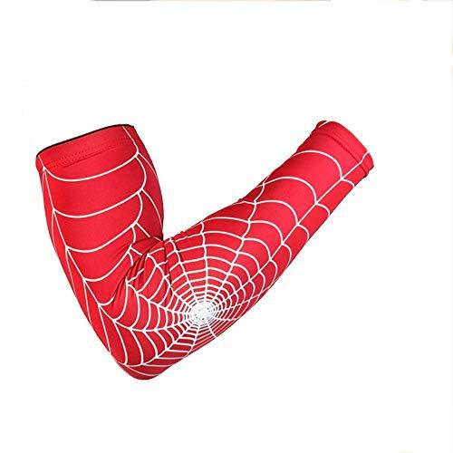 Netz Arm Warmers (Spinnen-Netz Protective Elbow Sleeve Anti-Skid Elbow-Wärmer Sleeves Für Radfahren Rot L Professionelle Spinnennetz Protective Elbow Sleeve Anti-Skid Elbow-Wärmer Sleeves für Outdoor-Sportarten Laufen)