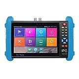 7 pollici IPS touch screen H.265 4K IPC-9800 telecamera Tester Inoltre IP CCTV CVBS analogico tester Costruito in Wifi doppia finestra Tester (nero)