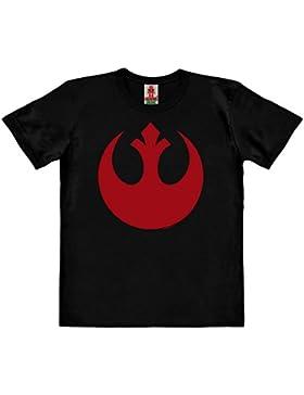Logoshirt Star Wars - Rogue One - Alianza Rebelde Logo Camiseta 100% Algodón Ecológico para Niño - Negro - Diseño...