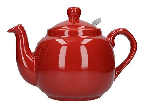Dexam London Pottery Théière avec filtre 4 tasses Rouge