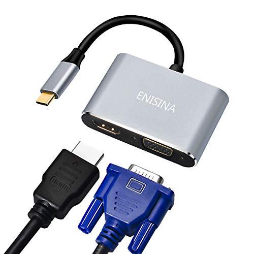 r, 2 Port Aluminum USB C Hub mit 4K HDMI, VGA für MacBook Pro & Air/Lenovo/Dell/Huawei/Microsoft Surface Book/Samsung Galaxy/ChromeBook Pixel und Mehr Typ C-Geräten ()