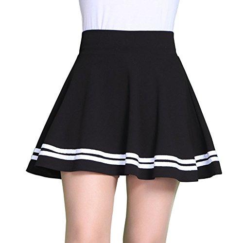 E Support™ Damen A-Linie Mini-Rock Faltenröcke Tennisrock Plissee Kurz Minirock Sommerkleid (Plissee-mini-rock)