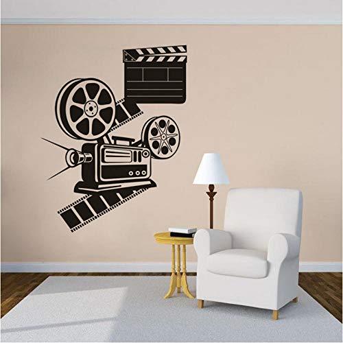 Cartoon Film Spielen Kamera Vinyl Wandtattoo Filmrollen Wandaufkleber Kino Dekoration Film Film ProjektorWandkunstPoster57 * 73 cm (Kino-dekorationen)