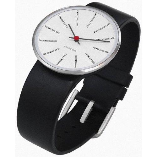 Rosendahl 43430 - Reloj analógico unisex de cuarzo con correa de piel negra