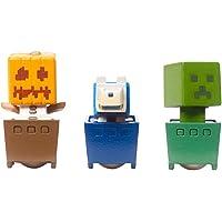 Minecraft Snow Golem, Creeper, Wolf 3 Pack Figure Set Standard