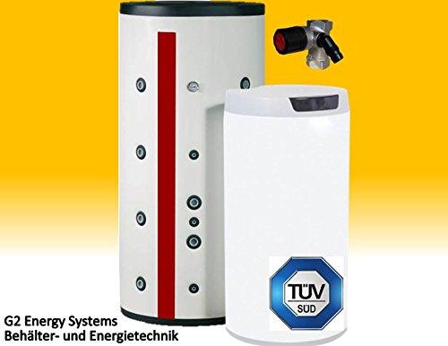 200 L Liter Warmwasserspeicher mit 2 Wärmetauschern Solarspeicher Boiler Universalspeicher