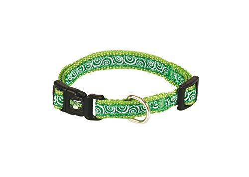 Fop Spa Verstellbare Halsband für Hunde mit Schnellspanner Grün Größe S 1x23/32 cm