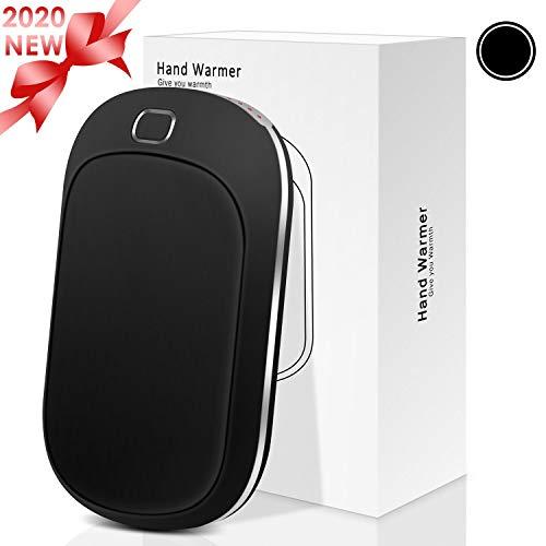 Sendowtek Chauffe-Mains USB Power Bank, Réchauffeur de Main Rechargeable, USB Réchauffeur de Poche à Double Face avec 4 Niveaux de Chauffage,Batterie Externe 5200mAh pour Smartphones, Tablettes