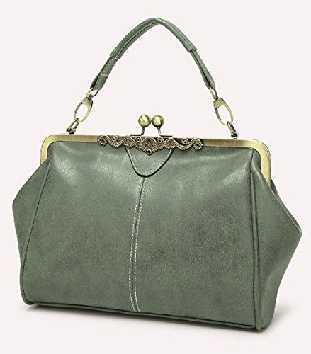 Keshi Pu neuer Stil Damen Handtaschen, Hobo-Bags, Schultertaschen, Beutel, Beuteltaschen, Trend-Bags, Velours, Veloursleder, Wildleder, Tasche Grün