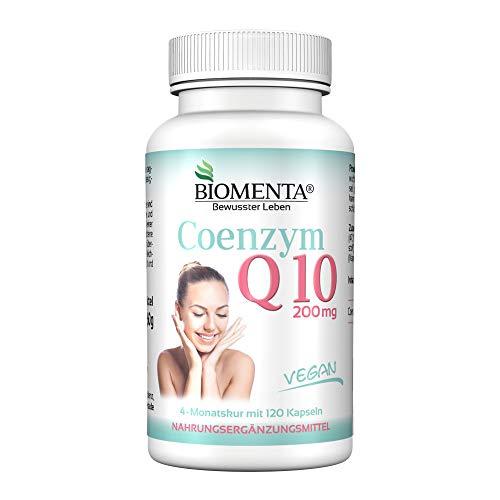 Biomenta COENZIMA Q10 - Q10 ALTO DOSAGGIO 200 mg per Capsula - 120 VEGANA Q10-capsule 4 Spa mese