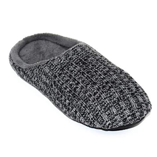 XHCHE Mode Einfach Stil MäNner Hausschuhe Solid Winter Woolen Wrap Toe Schuhe Zu Hause Schuhe FüR MäNner Indoor -