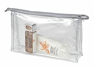 HALFAR - Lot 5 trousses de toilette maquillage pochettes zippées transparentes - 1800177