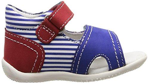 Kickers Bi Sea, Chaussures Bébé marche mixte bébé Bleu (Bleu/Rouge)