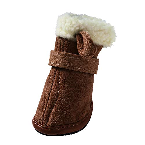 (Zolimx Hunde Winterschuhe Weihnachten Hirsch-Form Pet Dog Warme Schuhe Welpen Deer Winter Stiefel Booties)