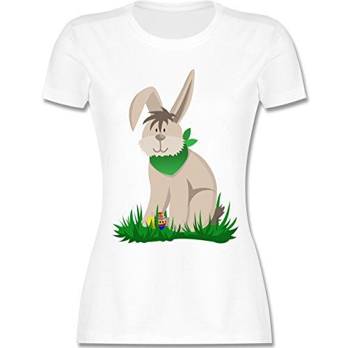 Ostern - Osterhase - tailliertes Premium T-Shirt mit Rundhalsausschnitt für Damen Weiß