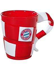 FC Bayern München Tasse en porcelaine avec motif écharpe de supporter Coffret cadeau inclus