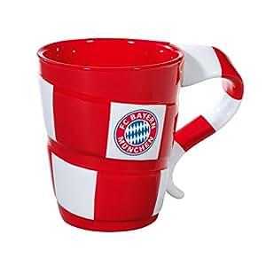 """FC Bayern München Tasse """"Schal"""" im Geschenkskarton Kaffeetasse Porzellanbecher"""