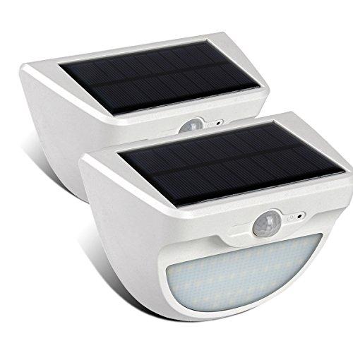 GreenSun LED Lighting 3 Modi Solarlampe LED Solarleuchten mit Bewegungsmelder 37 Leds Wasserdichte Solarbetriebene Leuchte Solarlicht für Garten, Balkon, Lager, Außenwand, Weiß (2 Pack)