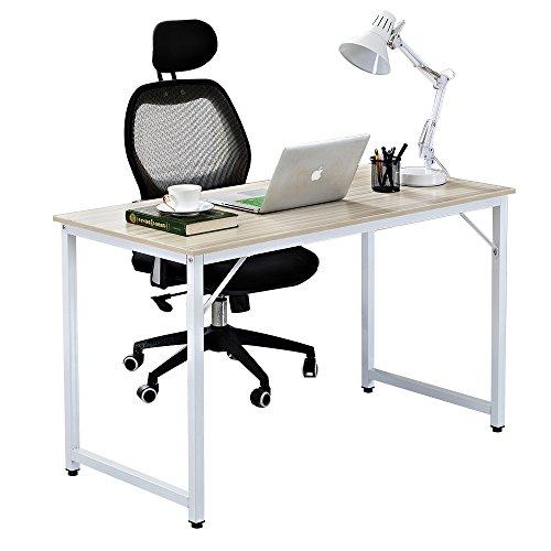 soges Schreibtisch 120x60cm PC-Tisch Arbeitstisch Bürotisch Holz Computerschreibtisch, Weiß...