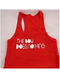 "Alesha Dixon ""The Boy Does Nothing"" Red Infill Vest Top"