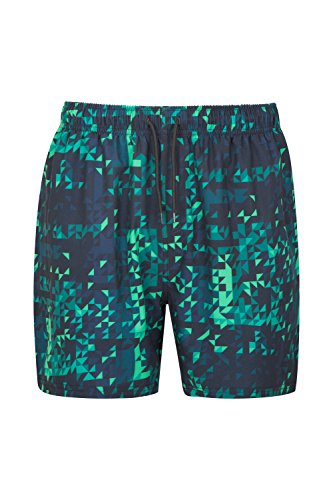 Mountain Warehouse Aruba Printed Mens Swim Shorts Grün Medium (Aruba Herren Kurze)