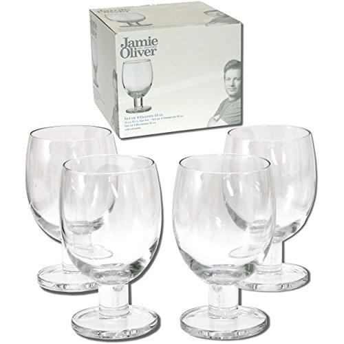 Jamie Oliver Trinkgläser (robustes 450 ml Gläser Set für diverse Getränke) als Wasserglas oder Weinglas geeignet