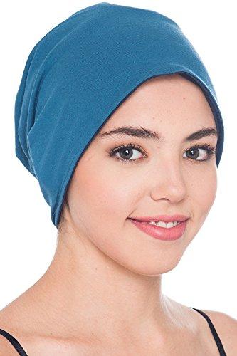 Unisex Reversibel Beanie für Krebs, Haarausfall (Denim-Carolina Blue) (Kopfbedeckung Unisex)