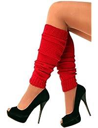 krautwear - Calentadores para mujer, diseño de los años 80, color  1xRot Talla única