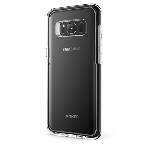 Samsung Galaxy S8 Case, Anker Ice-Case Absorb, Transparent Clear Protective Case for Galaxy S8 with Superior Defense and Shock Protection(Black)