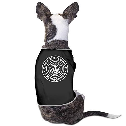 Jiaojiaozhe Obey Propaganda II Pet Service Pet Clothing Funny Dog Cat Costume Tshirt Black (Black Cat Boy Kostüm)