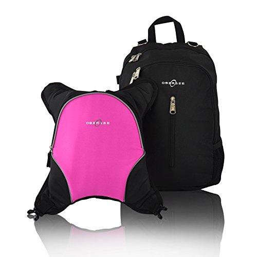 obersee-rio-mochila-para-paales-con-bolsa-isotrmica-separable-negro-y-rosa