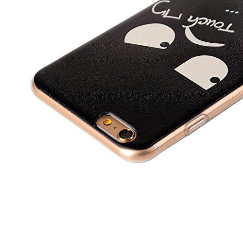 Custodia Cover per iPhone 6/6s, Cover Silicone Morbido Trasparente Protective Case TPU Gel Ultra Sottile Cassa Protettiva Design per iPhone 6/6s - Cielo Colorato grandi occhi